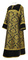 Clergy sticharion - Bouquet rayon brocade S4 (black-gold) with velvet inserts, Standard design