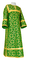 Clergy sticharion - Cappadocia rayon brocade S4 (green-gold), Economy cross design