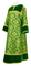 Clergy sticharion - Bouquet rayon brocade S4 (green-gold) with velvet inserts, Standard cross design