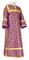Clergy sticharion - Cappadocia rayon brocade S4 (violet-gold), Economy design
