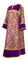 Clergy sticharion - Bouquet rayon brocade S4 (violet-gold) with velvet inserts, Standard design