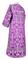 Clergy sticharion - Peacocks rayon brocade S4 (violet-silver) back, Standard design