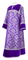 Clergy sticharion - Bouquet rayon brocade S4 (violet-silver) with velvet inserts, Standard design