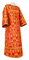 Clergy sticharion - Peacocks rayon brocade S4 (red-gold), Standard design
