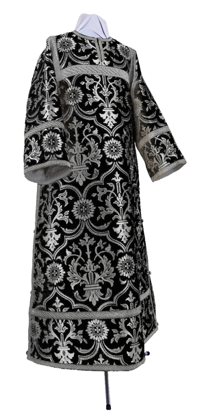 Clergy stikharion - rayon brocade S4 (black-silver)