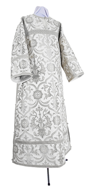 Clergy stikharion - rayon brocade S4 (white-silver)