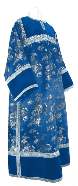 Clergy stikharion - rayon Chinese brocade (blue-silver)