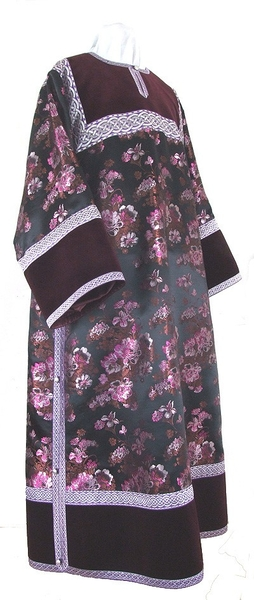 Clergy stikharion - rayon Chinese brocade (violet-silver)