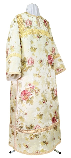 Clergy stikharion - rayon Chinese brocade (white-gold)