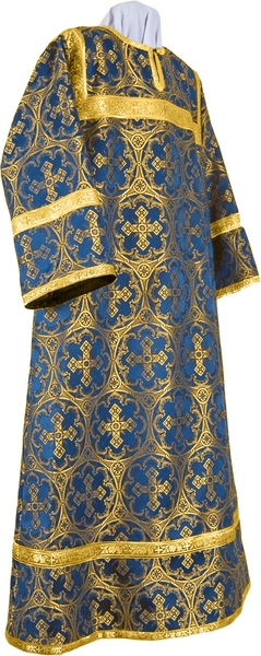 Altar server stikharion - metallic brocade B (blue-gold)