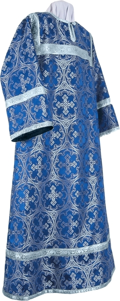 Altar server stikharion - metallic brocade B (blue-silver)
