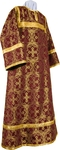 Altar server stikharion - metallic brocade B (claret-gold)