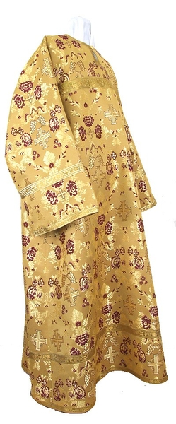 Altar server stikharion - metallic brocade B (yellow-claret-gold)