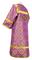 Altar server stikharion - Vologda metallic brocade B (violet-silver) back, Standard design