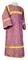 Altar server stikharion - Vologda metallic brocade B (violet-silver), Standard design