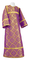 Altar server stikharion - Old-Greek metallic brocade B (violet-silver), Standard design