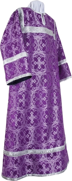 Altar server stikharion - metallic brocade B (violet-silver)