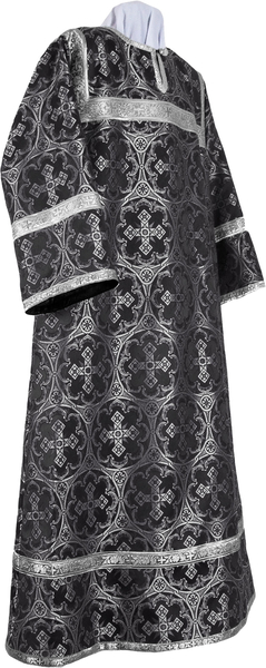 Altar server stikharion - metallic brocade B (black-silver)