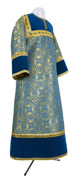 Altar server stikharion - metallic brocade BG1 (blue-gold)