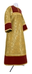 Altar server stikharion - metallic brocade BG1 (yellow-claret-gold)