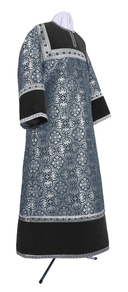 Altar server stikharion - metallic brocade BG1 (black-silver)