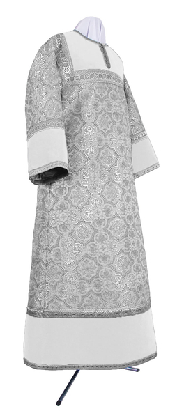 Altar server stikharion - metallic brocade BG1 (white-silver)