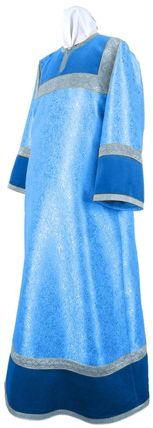 Altar server stikharion - metallic brocade BG2 (blue-silver)