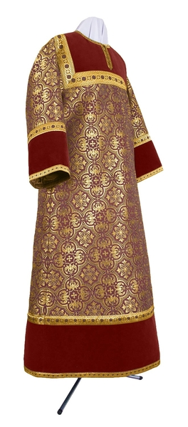 Altar server stikharion - metallic brocade BG2 (claret-gold)