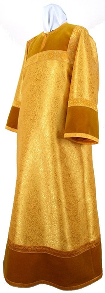 Altar server stikharion - metallic brocade BG2 (yellow-claret-gold)