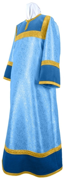 Altar server stikharion - metallic brocade BG3 (blue-gold)