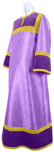 Altar server stikharion - metallic brocade BG3 (violet-gold)