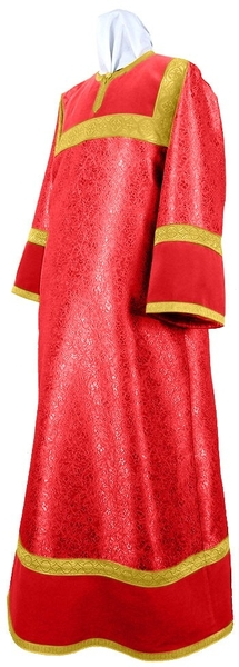 Altar server stikharion - metallic brocade BG3 (red-gold)