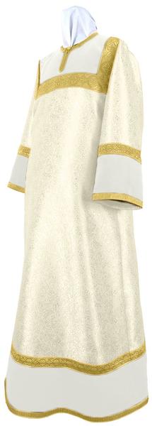 Altar server stikharion - metallic brocade BG3 (white-gold)