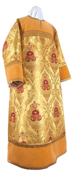 Altar server stikharion - metallic brocade BG4 (yellow-claret-gold)