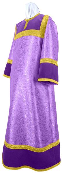Altar server stikharion - metallic brocade BG4 (violet-gold)