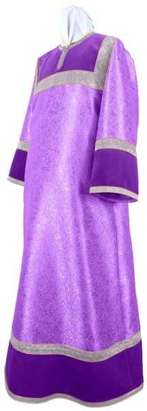 Altar server stikharion - metallic brocade BG4 (violet-silver)