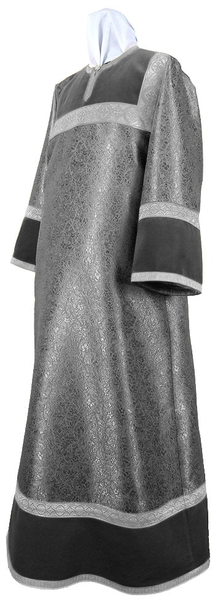 Altar server stikharion - metallic brocade BG4 (black-silver)