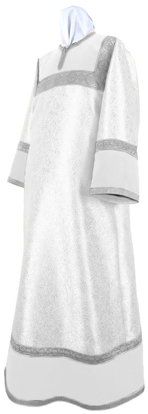 Altar server stikharion - metallic brocade BG4 (white-silver)