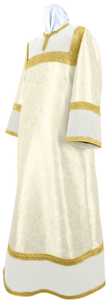 Altar server stikharion - metallic brocade BG5 (white-gold)