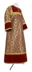Altar server stikharion - metallic brocade BG6 (claret-gold)