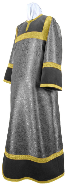 Altar server stikharion - metallic brocade BG6 (black-gold)