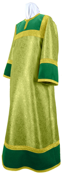 Altar server stikharion - metallic brocade BG6 (green-gold)