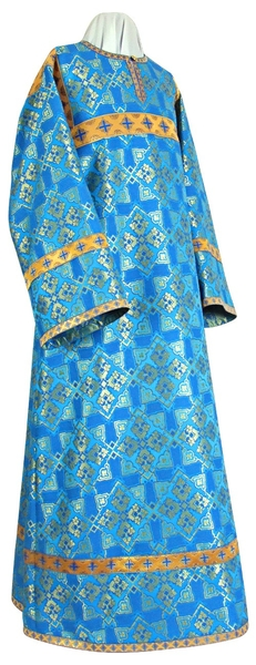 Altar server stikharion - rayon brocade S2 (blue-gold)