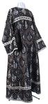 Altar server stikharion - rayon brocade S2 (black-silver)