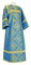 Altar server sticharion - Alania rayon brocade S3 (blue-gold), Standard design