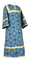 Altar server sticharion - Altaj rayon brocade S3 (blue-gold), Standard design