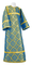Altar server sticharion - Old-Greek rayon brocade S3 (blue-gold), Standard design