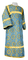 Altar server sticharion - Vologda rayon brocade S3 (blue-gold), Standard design