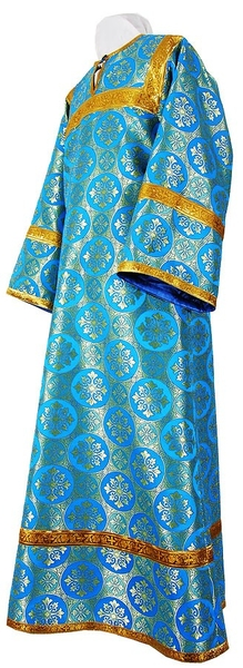 Altar server stikharion - rayon brocade S3 (blue-gold)