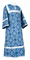 Altar server sticharion - Altaj rayon brocade S3 (blue-silver), Standard design